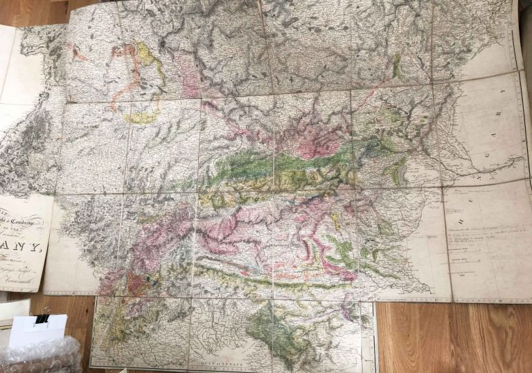 Map of the Physical Divisions of Germany Exhibiting the Post Roads, Canals. A. Arrowsmith.