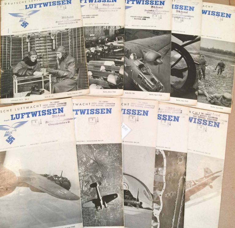Deutsche Luftwacht Luftwissen (Feb..- Dec. except Jan. and July missing, 1940 10 loose issues)