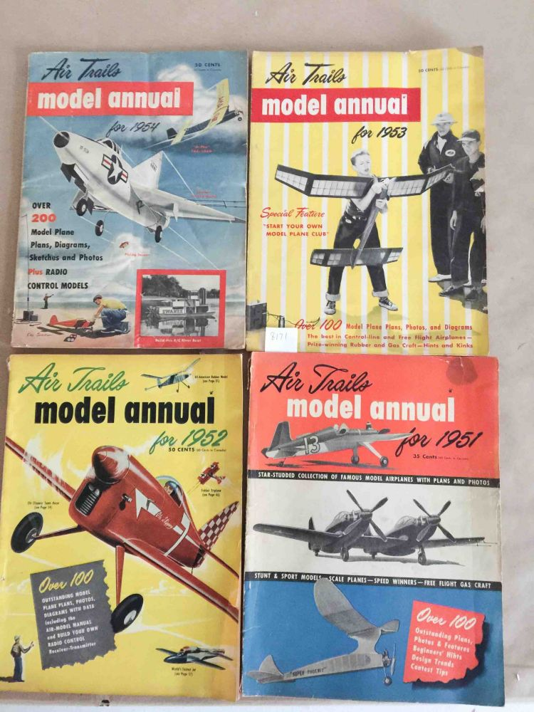Air Trails Model Annual (1951-1954, - 4 annual issues). Albert L. Lewis.