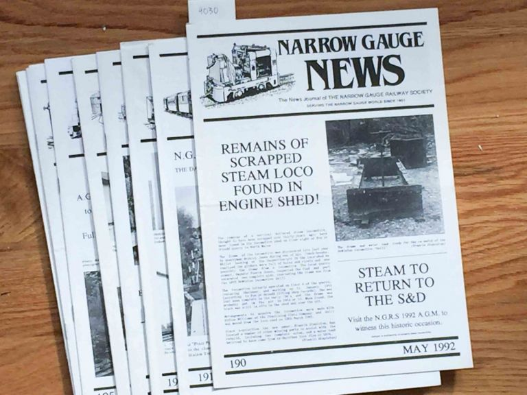 Narrow Gauge News (10 issues 190-199 from 1992, 1993). Alan Burgess.