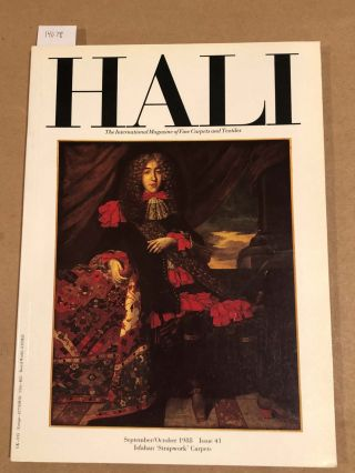 HALI The International Journal of Oriental Carpets and Textiles V. 10 No. 5 1988 issue 41....