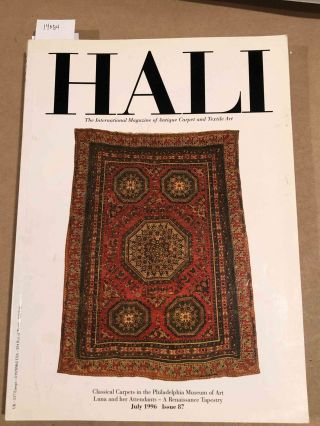 HALI The International Journal of Oriental Carpets and Textiles 1996 issue 87. Franses and Pinner