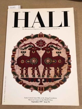 HALI The International Journal of Oriental Carpets and Textiles 1997 issue 94. Franses and Pinner