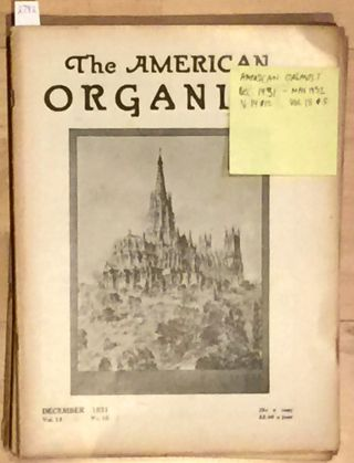 The American Organist (continuous run 6 issues 1932). Scott Buhrman