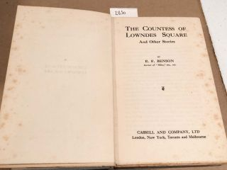 The Countess of Lowndes Square and Other Stories