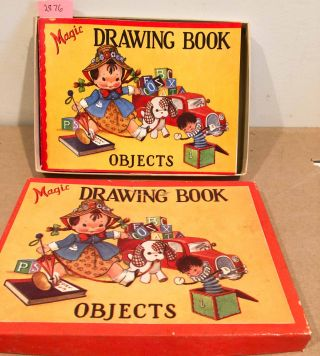 Magic Drawing Book - Objects No. 831 1940 with original box