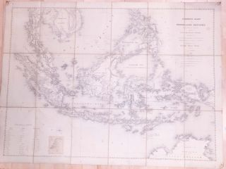 Allgemeene Kaart van Nederlands Oostindie 1:5,000,000 (folding map Netherlands East Indies)