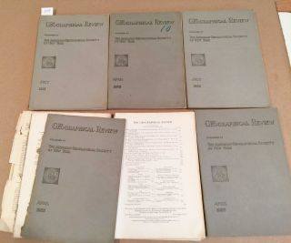 The Geographical Review (6 issues 1921- 1925