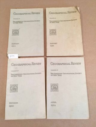 The Geographical Review (4 issues 1933- 1935
