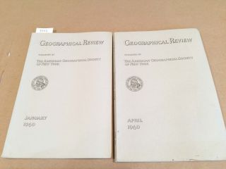 The Geographical Review (2 issues 1960