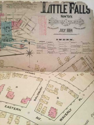 Little Falls N.Y. July 1884 (Fire Insurance Map)