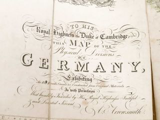 Map of the Physical Divisions of Germany Exhibiting the Post Roads, Canals...