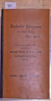 Aniline Dye stuffs on Leather. Badische Company.