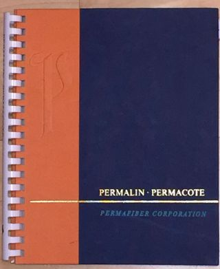 PERMALIN PERMACOTE (Book Binding Cover Paper catalogue). PERMAFIBER CORPORATION