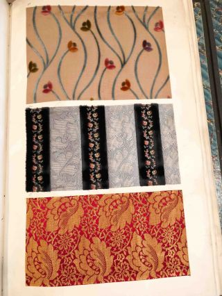 French Velour Textile Sample Books (2) Eugene Unsworth & Cie