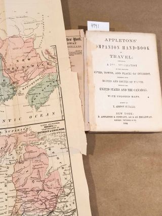 Appletons' Companion Hand - Book of Travel; containing a Full Description... (1 vol. 1860)