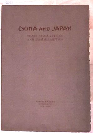 CHINA AND JAPAN THEIR SIMILARITIES AND DISSIMILARITIES