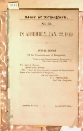 State of New York Annual Report of the Commissioners of...