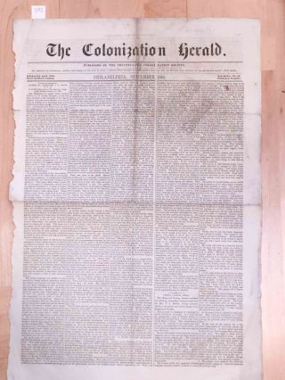 The Colonization Herald - New Series No. 63 Sept. 1855
