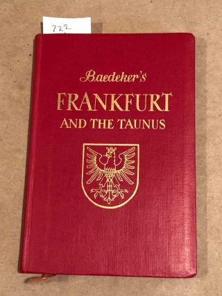 FRANKFURT AND THE TAUNUS. Baedeker