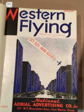 Western Flying (Jan. - Dec, 1933 bound volume)