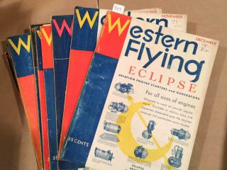 Western Flying (Jan. - Dec, 1931 12 loose issues