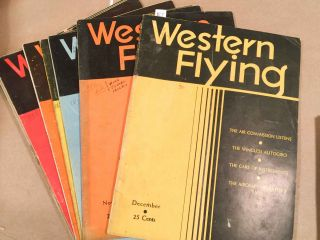 Western Flying (May. - Dec, 1934 8 loose issues)