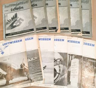 Deutsche Luftwacht Luftwissen (Jan.- Dec., 1938 12 loose issues