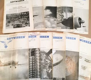 Deutsche Luftwacht Luftwissen (Jan.- Dec., 1939 12 loose issues