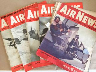 Air News The Picture Magazine of Aviation (July, Sept.-Dec., 1942 5 issues). Phillip Andrews.