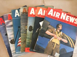 Air News The Picture Magazine of Aviation (Jan., Mar., Apr., June, July, Sept., Nov., 1943 7 issues). Phillip Andrews.