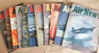 Air News The Picture Magazine of Aviation (Jan., Mar.-Dec., 1944 11 issues). Phillip Andrews.