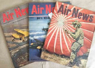 Air News The Picture Magazine of Aviation (Apr., July, Nov., 1944 3 issues). Phillip Andrews.