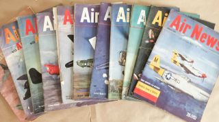 Air News The Picture Magazine of Aviation (Jan., Nov., 1945 11 issues). Phillip Andrews.