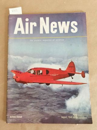 Air News The Picture Magazine of Aviation (Aug., 1945 1 issue). Phillip Andrews.