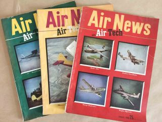 Air News The Picture Magazine of Aviation (Jan.-Mar., 1946 3 issues). Phillip Andrews.