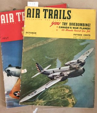 Air Trails Magazine (Oct. 1940 and July 1941- 2 issues