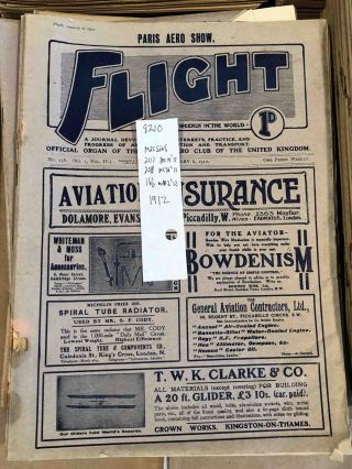 FLIGHT A Journal Devoted to the Interests, Practice, and Progress of Aerial Locomotion and...