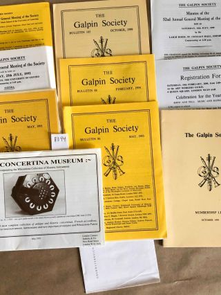 The Galpin Society Journal (ephemeral items 1990 - 2000