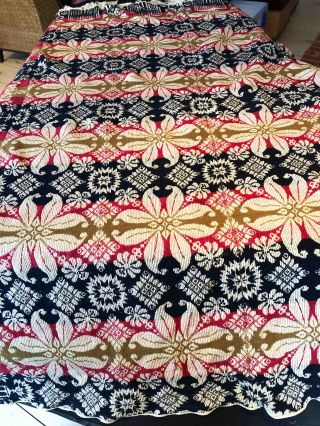 "American Coverlet - no date , place or maker in weaving ""Liberty""."