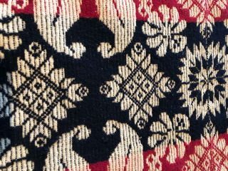 "American Coverlet - ca. 83"" x 92"" ""1842 Leacock Township Lan. Cou. Elizabeth Mayer""."