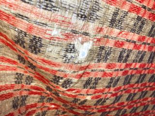 "American Coverlet ca 63"" x 93"" ca. 1870 red, white, blue"