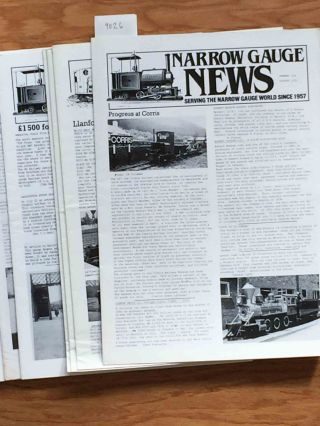 Narrow Gauge News (10 issues 150-159 from 1985, 1987). Alan Burgess.