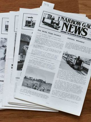 Narrow Gauge News (10 issues 170-179 from 1988, 1990). Alan Burgess.