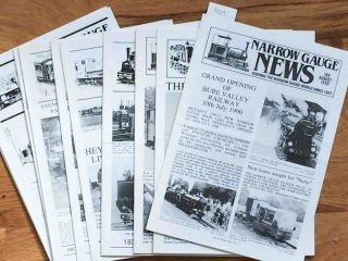 Narrow Gauge News (10 issues 180-189 from 1990, 1992). Alan Burgess.