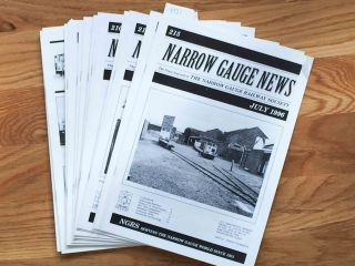 Narrow Gauge News (15 issues 200-215 from 1994, 1996 missing number 212). Alan Burgess.